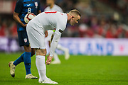 Wayne Rooney (England) comes on to the pitch in the 2nd half and gets ready for action during the international Friendly match between England and USA at Wembley Stadium, London, England on 15 November 2018.