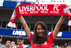 CHARLOTTE, USA - Saturday, August 2, 2014: A Liverpool supporter before the International Champions Cup Group B match against AC Milan at the Bank of America Stadium on day thirteen of the club's USA Tour. (Pic by Mark Davison/Propaganda)