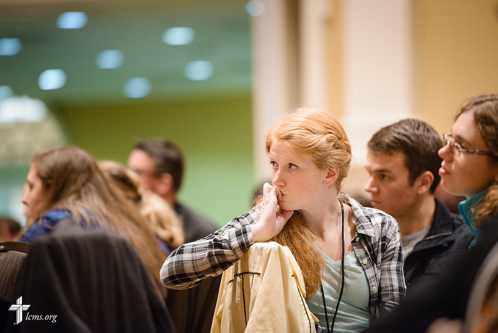 Attendees listen during the Liberty National LCMS Campus Ministry Conference on Wednesday, Jan. 4, 2017, at the University of Maryland in College Park, Md. LCMS Communications/Erik M. Lunsford