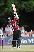 Johann Myburgh Batting during the NatWest T20 Blast South Group match between Middlesex County Cricket Club and Somerset County Cricket Club at Uxbridge Cricket Ground, Uxbridge, United Kingdom on 26 June 2015. Photo by David Vokes.