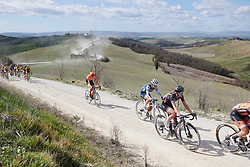 Hannah Barnes (GBR) and Ruth Winder (USA) on sector five at Strade Bianche - Elite Women 2019, a 136 km road race starting and finishing in Siena, Italy on March 9, 2019. Photo by Sean Robinson/velofocus.com