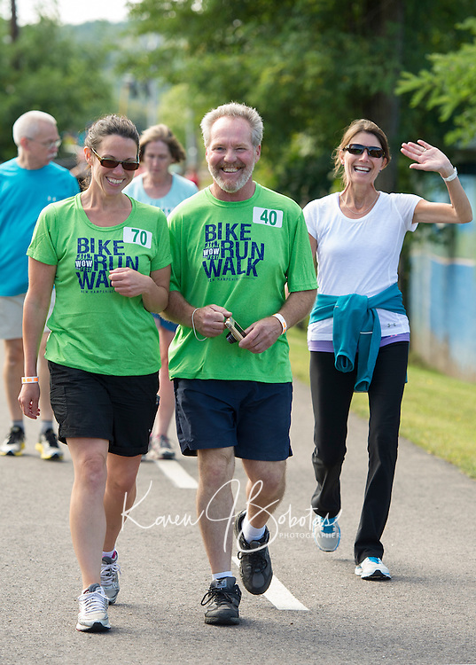 Hundreds of walkers, bikers and runners are expected for WOW Fest 2014 at Laconia Athletic and Swim Club.  (Karen Bobotas/for the Laconia Daily Sun)