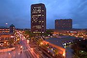 Idaho. Downtown Boise at night.