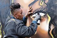 Painting Street art, Upfest, Bristol, Carleen De Son