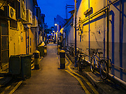 27 DECEMBER 2016 - SINGAPORE:  An alley in the Little India section of Singapore.      PHOTO BY JACK KURTZ