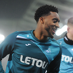 Leroy Fer of Swansea City warms up prior to Swansea City vs Arsenal, Premier League, 30.01.18 (c) Harriet Lander | SportPix.org.uk