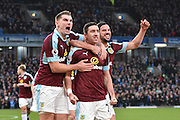 Burnley Defender, Stephen Ward (23) scores 2-0 during the Premier League match between Burnley and Bournemouth at Turf Moor, Burnley, England on 10 December 2016. Photo by Mark Pollitt.