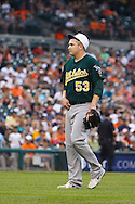 May 31, 2010: Oakland Athletics' Trevor Cahill (53) during the MLB baseball game between the Oakland Athletics and Detroit Tigers at  Comerica Park in Detroit, Michigan. Oakland defeated Detroit 4-1.