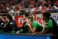 SYDNEY, AUSTRALIA - AUGUST 24: Fever bench during the round 14 Super Netball match between the Giants and the West Coast Fever at Qudos Bank Arena on August 24, 2019 in Sydney, Australia.(Photo by Speed Media/Icon Sportswire)