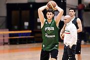 Biella, 14/12/2012<br /> Basket, All Star Game 2012<br /> Allenamento Nazionale Italiana Maschile <br /> Nella foto: matteo imbro<br /> Foto Ciamillo