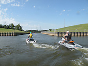 Personal Watercraft PWC at Port of Muskogee on McLellan-Kerr Arkansas River Navigation System in eastern Oklahoma