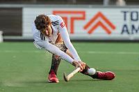 AMSTELVEEN -  Johannes Mooij (Adam)   tijdens de competitie hoofdklasse hockeywedstrijd mannen, Amsterdam- Den Bosch (2-3).  COPYRIGHT KOEN SUYK