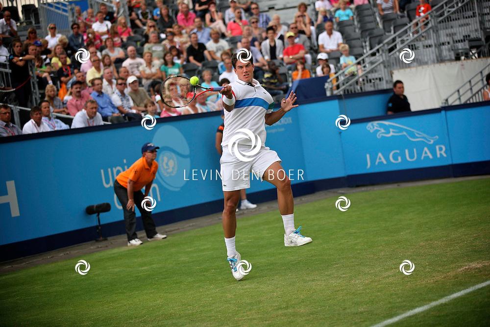 ROSMALEN - Xavier Malisse speelt vandaag op het Centre Court tegen Jesse Huta Galung.  Met op de foto tennisser Jesse Huta Galung. FOTO LEVIN DEN BOER - PERSFOTO.NU