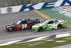 July 13, 2018 - Sparta, Kentucky, United States of America - Ryan Sieg (39) and Ty Dillon (3) battle for position during the Alsco 300 at Kentucky Speedway in Sparta, Kentucky. (Credit Image: © Chris Owens Asp Inc/ASP via ZUMA Wire)