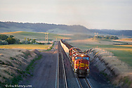 Another extremely long load of coal carried by train from Wyoming passes through Crawford Nebraska