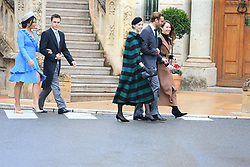 Louis Ducret, Marie Chevallier, Beatrice Borromeo, Pierre Casiraghi, Princess Alexandra of Hanover The royal family of Monaco going to the St. Nicholas Cathedral for the beginning of the National Day festivities on November 19th 2019.