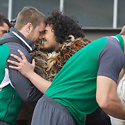 The Irish Rugby team receive an official maori welcome as the The Irish Rugby Team arrive at Queenstown airport, for the IRB Rugby World Cup 2011, Queenstown, New Zealand, 1st September 2011. Photo Tim Clayton....