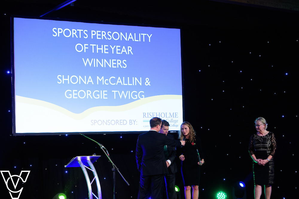 Lincolnshire Sport Awards 2016:<br /> <br /> Sports Personality of the Year sponsored by Riseholme College.  Winners: Shona McCallin and Georgie Twigg.  <br /> <br /> The 2016 Lincolnshire Sport Awards, organised by Lincolnshire Sport, and held at the Showground, Lincoln.<br /> <br /> Picture: Chris Vaughan Photography for Lincolnshire Sport<br /> Date: November 3, 2016