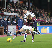 Dundee&rsquo;s Paul McGowan tussles with Hearts&rsquo; Sam Nicholson - Hearts v Dundee - SPFL Premiership at Tynecastle<br /> <br />  - &copy; David Young - www.davidyoungphoto.co.uk - email: davidyoungphoto@gmail.com