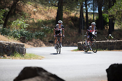 Julia Soek (NED) and Coryn Rivera (USA) of Team Sunweb approach the top of the final climb of Stage 10 of the Giro Rosa - a 124 km road race, starting and finishing in Torre Del Greco on July 9, 2017, in Naples, Italy. (Photo by Balint Hamvas/Velofocus.com)