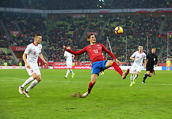 November 15, 2018 - Gdansk, Pomorze, Poland - Patrik Schick (19) during the international friendly soccer match between Poland and Czech Republic at Energa Stadium in Gdansk, Poland on 15 November 2018  (Credit Image: © Mateusz Wlodarczyk/NurPhoto via ZUMA Press)