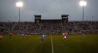 Ohio State takes on the University of North Carolina in the second half of an NCAA women's college soccer game in Columbus, Ohio on Sunday, Sept. 4, 2011, at Jesse Owens Memorial Stadium.