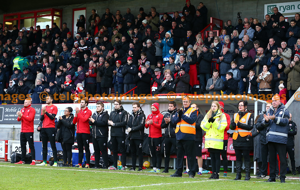 Minute's applause for for CTFC Head Coach Dermot Drummy who passed away on 27th November 2017.