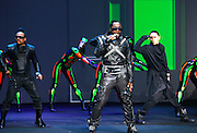 The Black Eyed Peas perform during the 2009 Victoria's Secret Fashion show at the 26th St Armory in New York City on November 19, 2009.