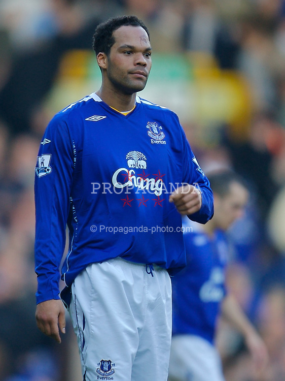LIVERPOOL, ENGLAND - Saturday, February 9, 2008: Everton's Joleon Lescott during the Premiership match against Reading at Goodison Park. (Photo by David Rawcliffe/Propaganda)