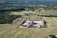 Alamo movie set from the air near Spicewood, Texas.