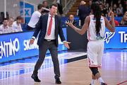 Spiro Leka, Marcus Thornton<br /> Dolomiti Energia Aquila Basket Trento - Consultinvest Victoria Libertas Pesaro<br /> Lega Basket Serie A 2016/2017<br /> Trento, 26/03/2017<br /> Foto M. Ceretti / Ciamillo - Castoria
