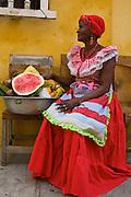 Angelica, Cartagena's top fruit salad street vendor - Colombia