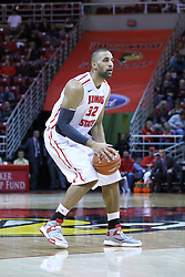05 January 2013:  Jackie Carmichael during an NCAA Missouri Valley Conference (MVC) mens basketball game between the Northern Iowa Panthers and the Illinois State Redbirds in Redbird Arena, Normal IL