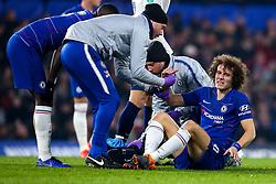 David Luiz of Chelsea looks in pain - Mandatory by-line: Robbie Stephenson/JMP - 24/01/2019 - FOOTBALL - Stamford Bridge - London, England - Chelsea v Tottenham Hotspur - Carabao Cup