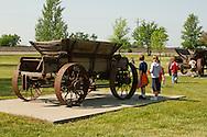 Big Horn County Historical Museum, Hardin, Montana, school class visit.