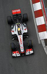 Formula One World Championship 2012 Grand Prix Monaco.  Lewis Hamilton GBR Vodafone McLaren Mercedes during practice. Thursday May 24, 2012. Photo By imago/i-Images