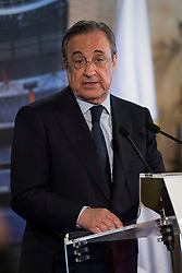 13.07.2015, Estadio Santiago Bernabeu, Madrid, ESP, Primera Division, Real Madrid, Pressekonferenz, Iker Casillas Tribute, im Bild President of Real Madrid, Florentino Pérez // during Iker Casillas Tribute press conference of spanisch Primera Division Club Real Madrid CF at the Estadio Santiago Bernabeu in Madrid, Spain on 2015/07/13. EXPA Pictures © 2015, PhotoCredit: EXPA/ Alterphotos/ BorjaB.hojas<br /> <br /> *****ATTENTION - OUT of ESP, SUI*****