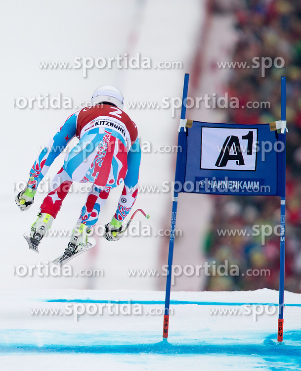 23.01.2015, Streif, Kitzbuehel, AUT, FIS Ski Weltcup, Supercombi Super G, Herren, im Bild Johan Clarey (FRA) // Johan Clarey of France in action during the men's Super Combined Super-G of Kitzbuehel FIS Ski Alpine World Cup at the Streif Course in Kitzbuehel, Austria on 2015/01/23. EXPA Pictures © 2015, PhotoCredit: EXPA/ Johann Groder