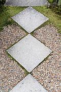 tiles in a docorative garden Jpan