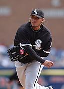 Apr 11, 2006; Detroit, MI, USA: Chicago White Sox pitcher Freddy Garcia, Comerica Park.
