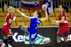 Nina Jericek of Slovenia during handball match between Women National teams of Slovenia and Serbia in 2nd Round of Qualifications for 2014 EHF European Championship on October 27, 2013 in Hala Tivoli, Ljubljana, Slovenia. (Photo by Vid Ponikvar / Sportida)