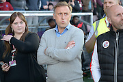 Crawley Town manager Mark Yates during the Sky Bet League 2 match between Northampton Town and Crawley Town at Sixfields Stadium, Northampton, England on 19 April 2016. Photo by Dennis Goodwin.