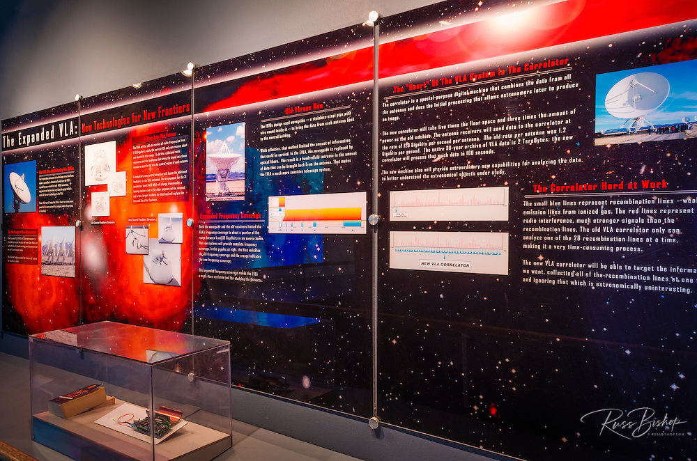 Visitor center display at the Very Large Array (VLA), Plains of San Agustin, Socorro, New Mexico USA