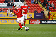Charlton Athletic midfielder Andrew Crofts (8) during the EFL Sky Bet League 1 match between Charlton Athletic and Swindon Town at The Valley, London, England on 30 April 2017. Photo by Andy Walter.