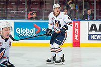 KELOWNA, BC - MARCH 09:  Josh Pillar #9 of the Kamloops Blazers skates against the Kelowna Rockets at Prospera Place on March 9, 2019 in Kelowna, Canada. (Photo by Marissa Baecker/Getty Images)