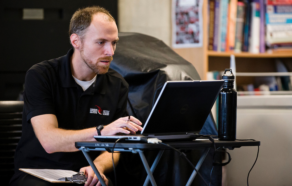 Canadian Athletes train and go through biomechanical and performance analytics at the PISE Pacific Institute for Sport Excellence in Victoria, British Columbia Canada.