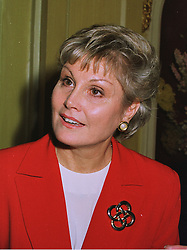 ANGELA RIPPON the newsreader at a party in London on 1st December 1997.<br /> MDW 8