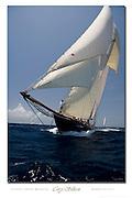 Herreshoff schooner Mariette custom poster.