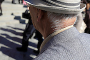 back view of neck of an elderly Japanese man