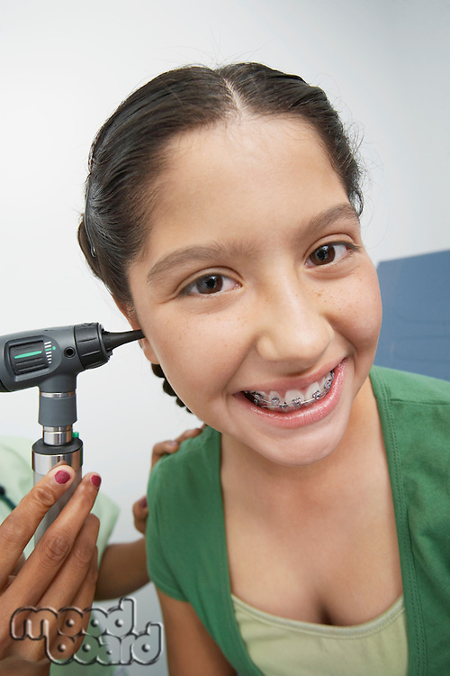 Girl having medical examination